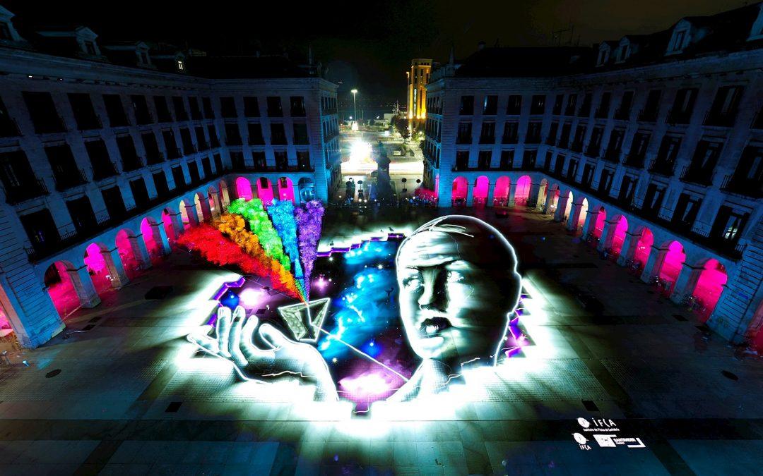 """El evento 'Santander es luz' logra una animación 'lightpainting' """"nunca creada antes en España"""""""